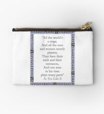 All The Worlds A Stage - Shakespeare Zipper Pouch