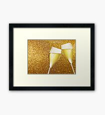 Two glasses of champaign Framed Print