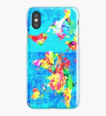 world map collage iPhone Case/Skin