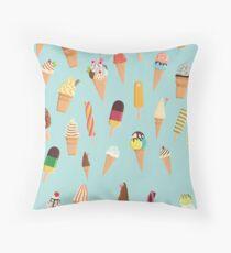 Ice cream seamless pattern Throw Pillow