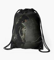 Green arrow TV Drawstring Bag