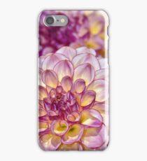 Purple dahlia flowers iPhone Case/Skin