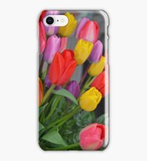 Colorful tulip floral arrangement iPhone Case/Skin