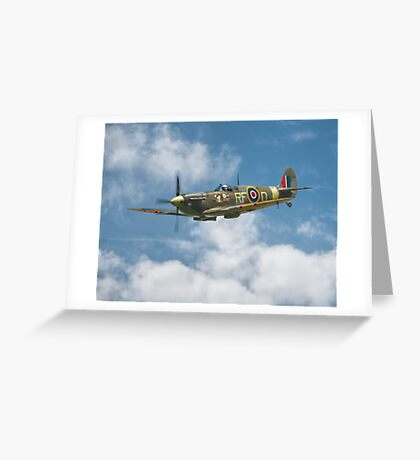 Spitfire in The Clouds Greeting Card