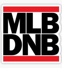 MLB DNB (Black on Light) Sticker