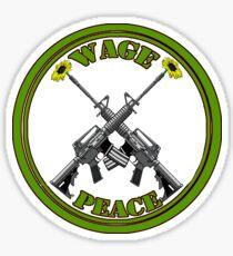 Wage peace logo Sticker