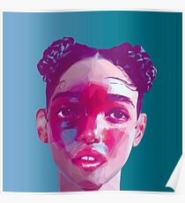 Fka Twigs LowPoly/ High Poly Collection Poster