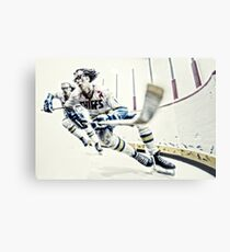 Old Time Hockey! Metal Print