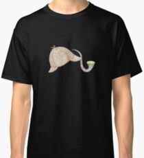 Sherlock Holmes Deer Stalker and Pipe Classic T-Shirt