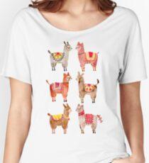 Camiseta ancha para mujer Alpacas