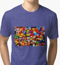 Colorful Abstract Tri-blend T-Shirt