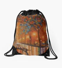 Banco con lluvia Drawstring Bag