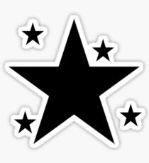 etoile noir Sticker