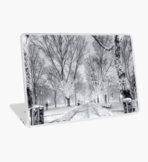 Snow's path down Comm Ave Laptop Skin