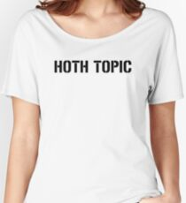 HOTH TOPIC (Black) Women's Relaxed Fit T-Shirt
