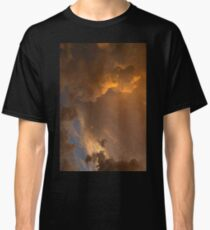 Storm Clouds Sunset - Dramatic Oranges - a Vertical View Classic T-Shirt