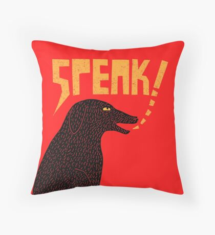 Big Dog in Charge Throw Pillow
