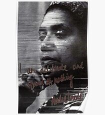 """""""I am deliberate and afraid of nothing."""" Audre Lorde Poster"""