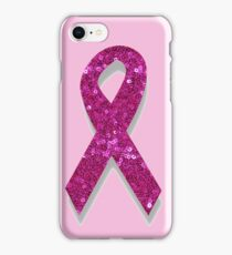 pink breast cancer awareness ribbon iPhone Case/Skin