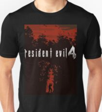 Resident Evil 4 European Box Art Style Red Unisex T-Shirt