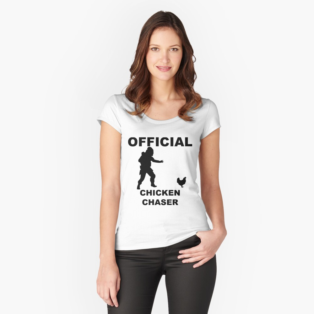 Chicken Chasher Women's Fitted Scoop T-Shirt Front