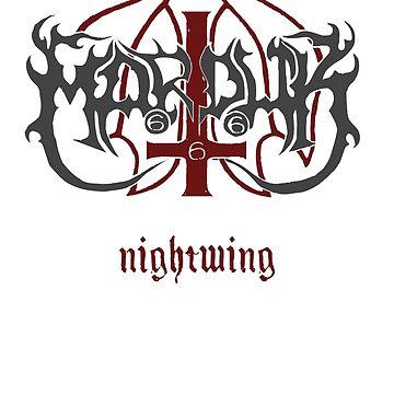Marduk - Nightwing - Logo by michaelhavart