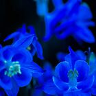 Blue Blues Neon Blue by Michael Moriarty