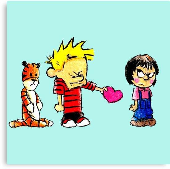 Calvin Hobbes Love by Ottenart
