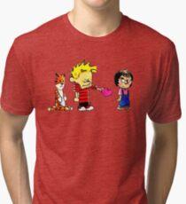 Calvin Hobbes Love Tri-blend T-Shirt
