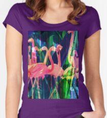 Flamingo Dance Women's Fitted Scoop T-Shirt