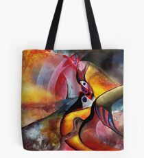 red scenery Tote Bag