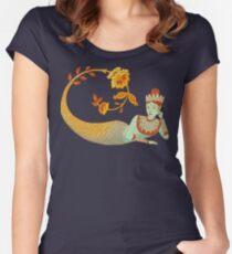 Flower Devi Green Goddess Women's Fitted Scoop T-Shirt