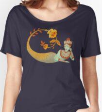Flower Devi Green Goddess Relaxed Fit T-Shirt