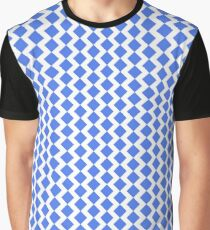 Blue and white Zigzag Graphic T-Shirt