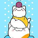 Kawaii Katze Aiko mit Garn Ball & Friends von Natalie Cat