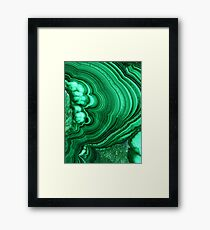 Malachite Framed Print