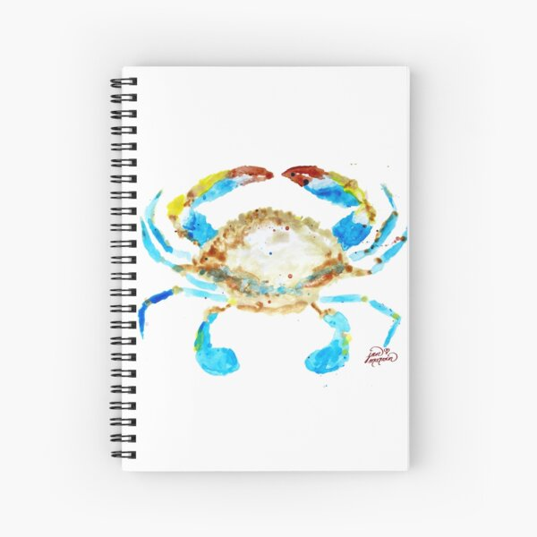Blue Crab without splats by Jan Marvin Spiral Notebook