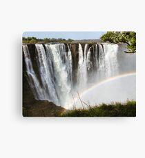 Victoria Falls with Rainbow Canvas Print