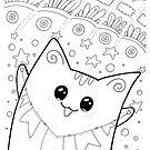 Kawaii Neko Yoko - Glückskatze von Natalie Cat