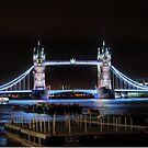 The Tower Bridge at Night  (2) by Larry Lingard-Davis