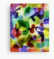 Abstract Multi-Coloured Shapes Canvas Print