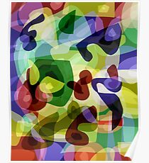 Abstract Multi-Coloured Shapes Poster