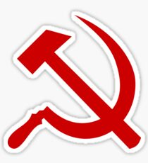 Red Hammer and Sickle Sticker