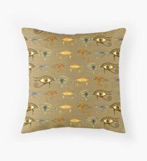 """Eyes of Horus""© Throw Pillow"