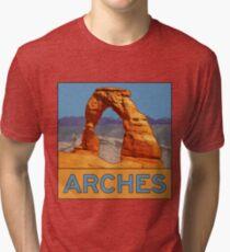 Arches National Park - Delicate Arch - Moab Utah Tri-blend T-Shirt