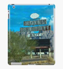 Motel Restaurant Exit Old Beat up Sign iPad Case/Skin