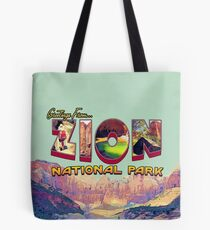 Greetings from Zion National Park Tote Bag
