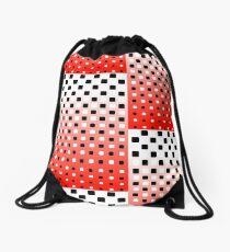 Red, Black, & White Halftone Drawstring Bag