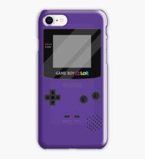 Gameboy Color - Purple iPhone Case/Skin