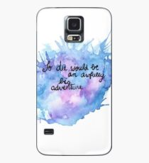 Peter Pan Adventure Quote Watercolor Case/Skin for Samsung Galaxy